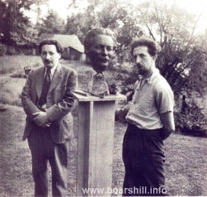 Dr Ernst Chain with Oscar Nemon 1944