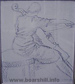 Herma Fiedlercello sketch by Oscar Nemon 1941
