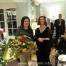 Hostess, Wendy Becker, receiving a thank you bouquet from BHA Chairman, Kate O'Donovan.