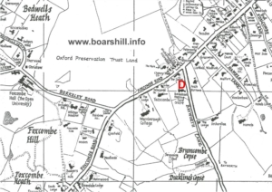 Boars Hill defibrillator location map