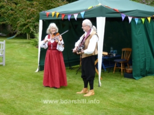 Oxford Waits, Caroline & Edwin, provided the music